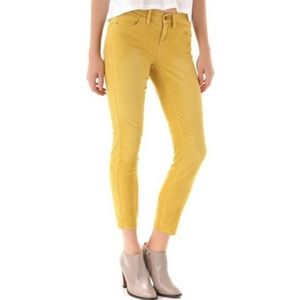 Madewell Skinny Ankle Cords in Marigold Yellow